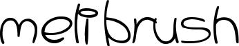 Meli Brush Font