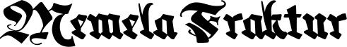Memela Fraktur Font