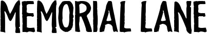 Memorial Lane Font