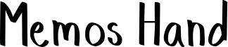 Memos Hand Font