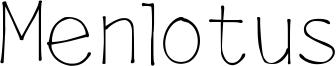 Menlotus Font