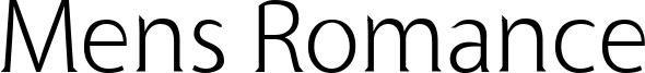 Mens Romance Font
