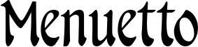 Menuetto Font