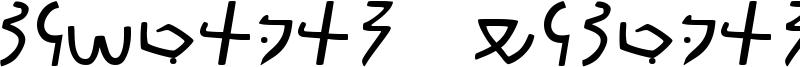 Meroitic Demotic Font