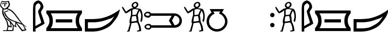 Meroitic Hieroglyphics Font
