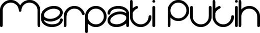 Merpati Putih Font