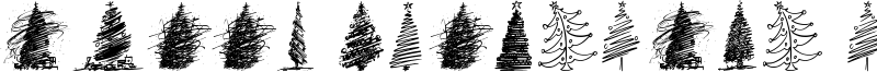 Merry Christmas Trees Font