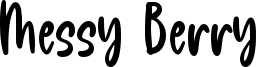 Messy Berry Font