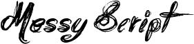 Messy Script Font