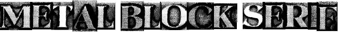 Metal Block Serif Font