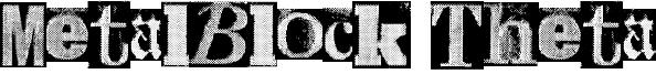 MetalBlock Theta Font