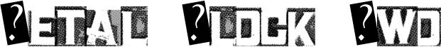 Metal Block Two Font