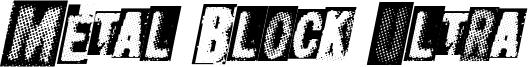 Metal Block Ultra Font