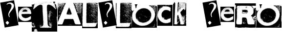 MetalBlock Zero Font