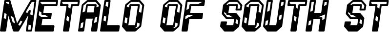 Metalo Of South St Font