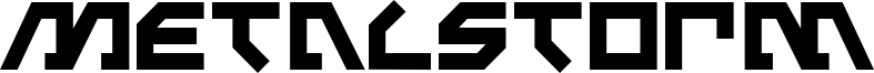 Metalstorm Font