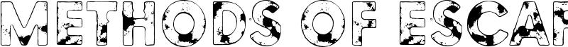 Methods of escape Font
