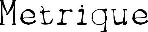Metrique Font