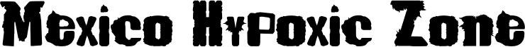 Mexico Hypoxic Zone Font
