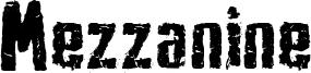 Mezzanine Font