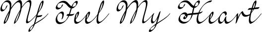 Mf Feel My Heart Font