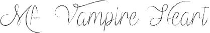 Mf Vampire Heart Font