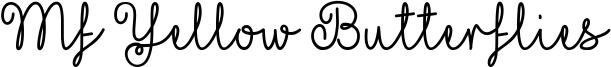 Mf Yellow Butterflies Font