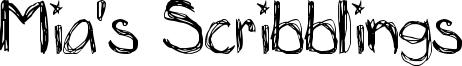 Mia's Scribblings Font