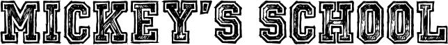 Mickey's School Font