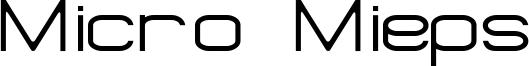 Micro Mieps Font