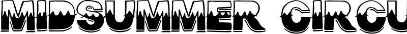 Midsummer Circus Font