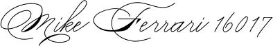 Mike Ferrari 16017 Font