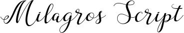 Milagros Script Font