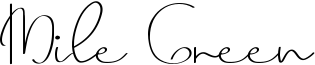 Mile Green Font