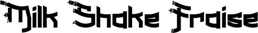 Milk Shake Fraise Font