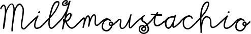 Milkmoustachio Font