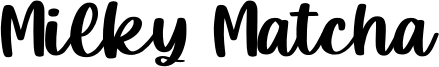 Milky Matcha Font