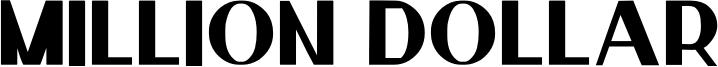 million dollar Font