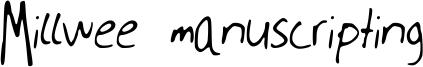 Millwee manuscripting Font
