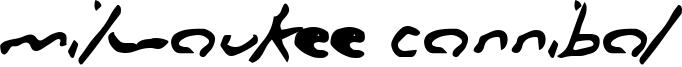 Milwaukee Cannibal Font