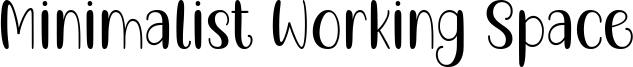 Minimalist Working Space Font