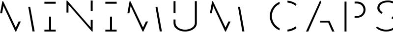 Minimum Caps Font