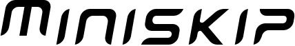 Miniskip Font
