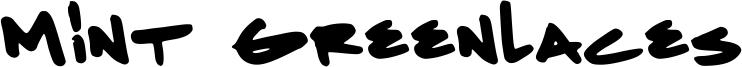 Mint Greenlaces Font