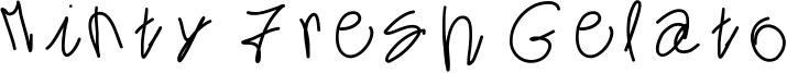 Minty Fresh Gelato Font