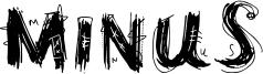 Minus Font