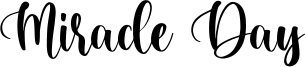 Miracle Day Font