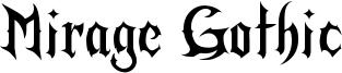 Mirage Gothic Font
