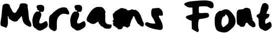 Miriams Font Font