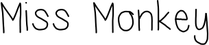 Miss Monkey Font